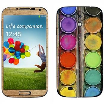Виниловая наклейка «Палитра с красками» на телефон Samsung Galaxy S4