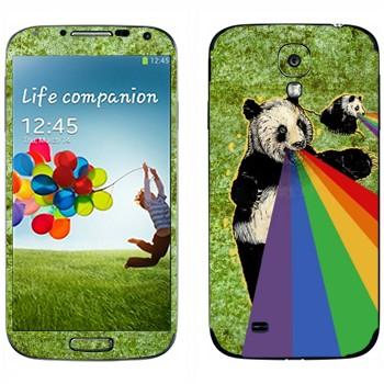 Виниловая наклейка «Панда изрыгает радугу» на телефон Samsung Galaxy S4