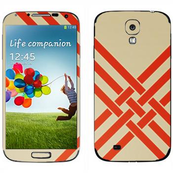 Виниловая наклейка «Переплетающиеся оранжевые полосы - Georgiana Paraschiv» на телефон Samsung Galaxy S4