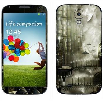 Виниловая наклейка «Пересечение» на телефон Samsung Galaxy S4