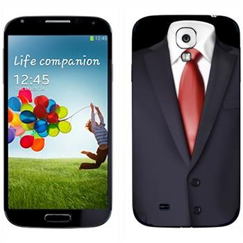 Виниловая наклейка «Пиджак и красный галстук» на телефон Samsung Galaxy S4