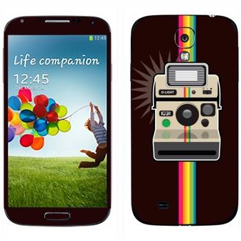 Виниловая наклейка «Полароид и радуга» на телефон Samsung Galaxy S4