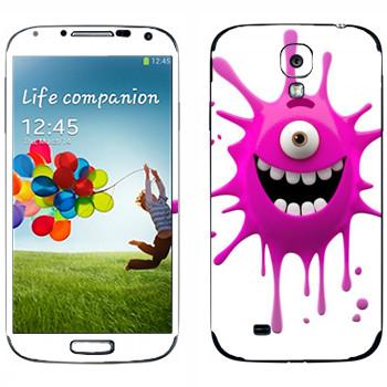 Виниловая наклейка «Позитивная клякса» на телефон Samsung Galaxy S4