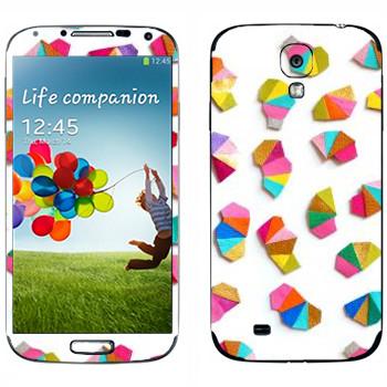 Виниловая наклейка «Разноцветная карандашная стружка - Georgiana Paraschiv» на телефон Samsung Galaxy S4