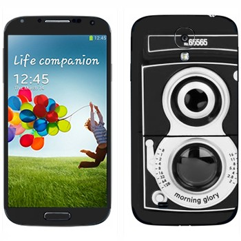 Виниловая наклейка «Ретро фотокамера» на телефон Samsung Galaxy S4