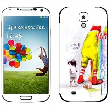 Виниловая наклейка «Рональд МакДональд блюёт» на телефон Samsung Galaxy S4
