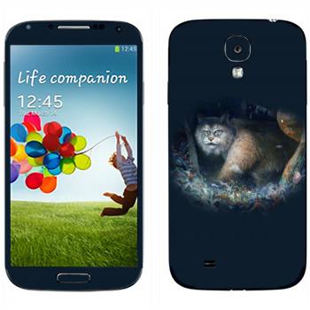 Виниловая наклейка «Рысь - Kisung» на телефон Samsung Galaxy S4
