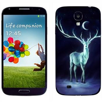 Виниловая наклейка «Северный олень» на телефон Samsung Galaxy S4