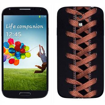 Виниловая наклейка «Шнуровка» на телефон Samsung Galaxy S4