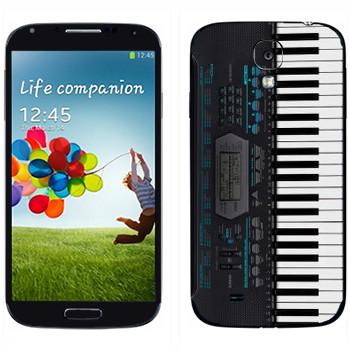 Виниловая наклейка «Синтезатор» на телефон Samsung Galaxy S4