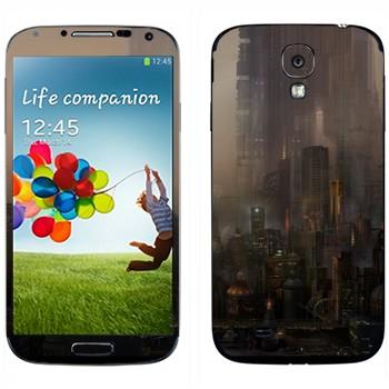 Виниловая наклейка «Сосуществование миров» на телефон Samsung Galaxy S4