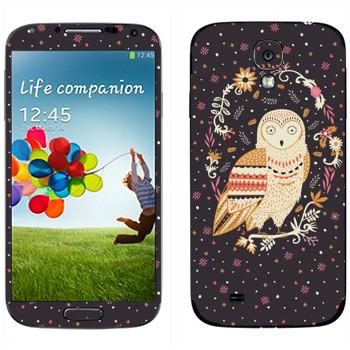 Виниловая наклейка «Сова - Anna Deegan» на телефон Samsung Galaxy S4