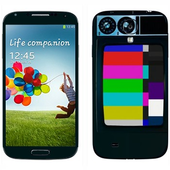 Виниловая наклейка «Старый телевизор» на телефон Samsung Galaxy S4