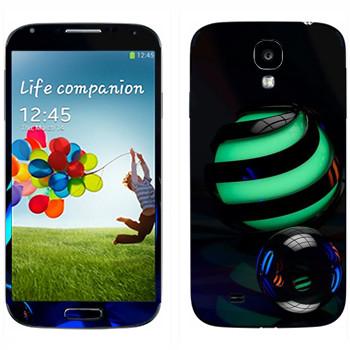 Виниловая наклейка «Стеклянные шарики» на телефон Samsung Galaxy S4