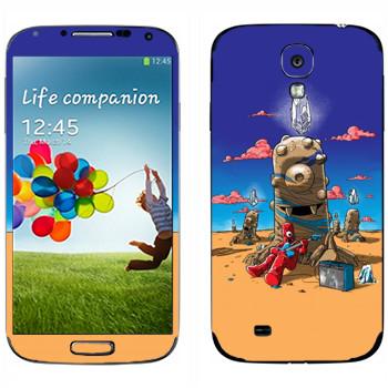 Виниловая наклейка «Странная пустыня» на телефон Samsung Galaxy S4