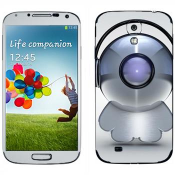 Виниловая наклейка «Техно-человечек в наушниках» на телефон Samsung Galaxy S4