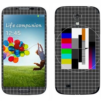 Виниловая наклейка «Телевизионная испытательная таблица» на телефон Samsung Galaxy S4