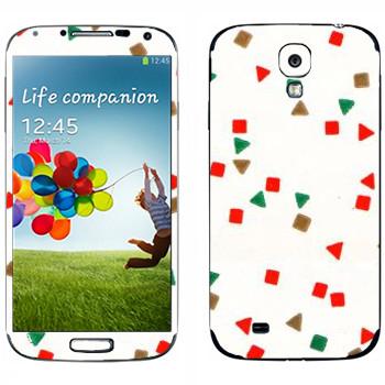 Виниловая наклейка «Треугольники и квадраты - Georgiana Paraschiv» на телефон Samsung Galaxy S4