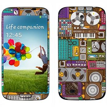 Виниловая наклейка «Усилители и бобинные магнитофоны» на телефон Samsung Galaxy S4