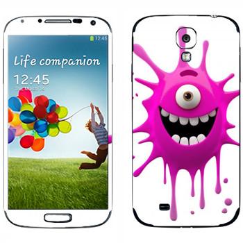 Виниловая наклейка «Веселая клякса» на телефон Samsung Galaxy S4