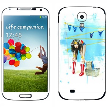 Виниловая наклейка «Весна в воздухе» на телефон Samsung Galaxy S4
