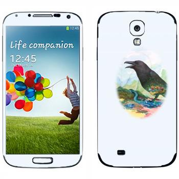 Виниловая наклейка «Ворона - Kisung» на телефон Samsung Galaxy S4