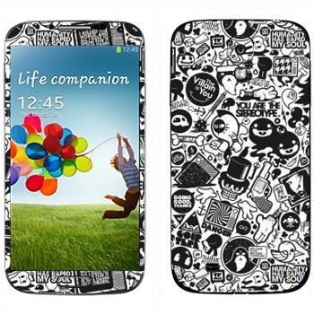 Виниловая наклейка «Все твои друзья - Зомби» на телефон Samsung Galaxy S4