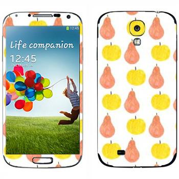 Виниловая наклейка «Яблоки и груши - Georgiana Paraschiv» на телефон Samsung Galaxy S4