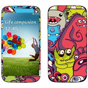 Виниловая наклейка «Забавные инопланетяне» на телефон Samsung Galaxy S4