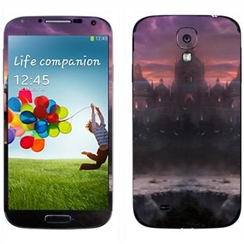 Виниловая наклейка «Закат в вымышленном городе» на телефон Samsung Galaxy S4