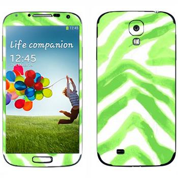 Виниловая наклейка «Зеленые разводы - Georgiana Paraschiv» на телефон Samsung Galaxy S4