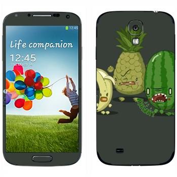 Виниловая наклейка «Злые фрукты» на телефон Samsung Galaxy S4