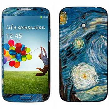 Виниловая наклейка «Звёздная ночь» на телефон Samsung Galaxy S4