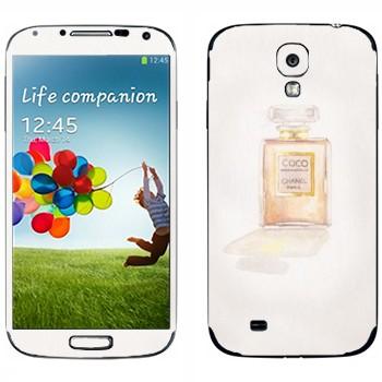 Виниловая наклейка «Coco Chanel флакончик» на телефон Samsung Galaxy S4