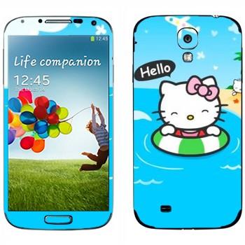 Виниловая наклейка «Hello Kitty на море» на телефон Samsung Galaxy S4