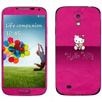 Виниловая наклейка «Hello Kitty на розовом» на телефон Samsung Galaxy S4