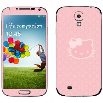 Виниловая наклейка «Hello Kitty прозрачная» на телефон Samsung Galaxy S4
