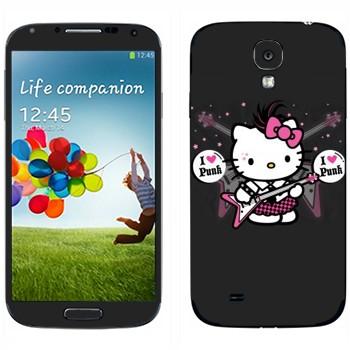 Виниловая наклейка «Kitty - I love punk» на телефон Samsung Galaxy S4