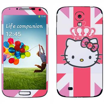 Виниловая наклейка «Kitty королева Британии» на телефон Samsung Galaxy S4