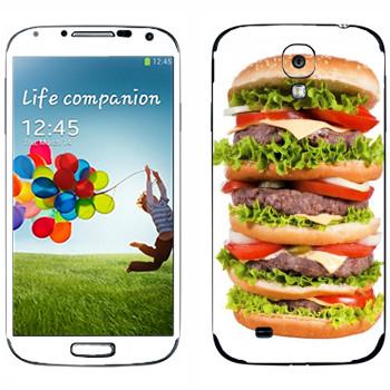 Виниловая наклейка «Биг-биг-биг гамбургер» на телефон Samsung Galaxy S4