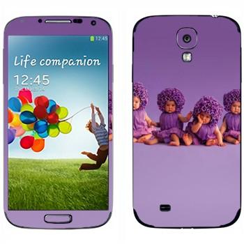 Виниловая наклейка «Дети-фиалки» на телефон Samsung Galaxy S4