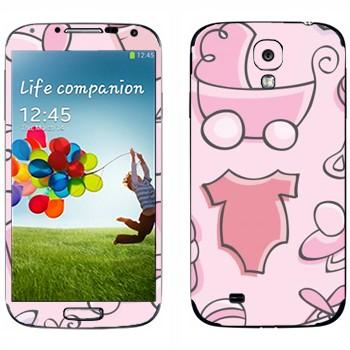 Виниловая наклейка «Детские вещи» на телефон Samsung Galaxy S4