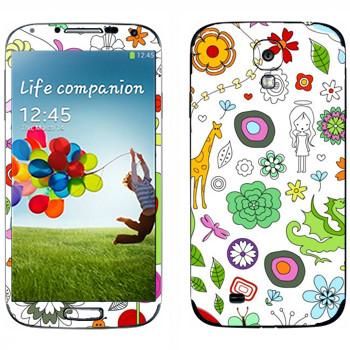 Виниловая наклейка «Девчачьи узоры» на телефон Samsung Galaxy S4