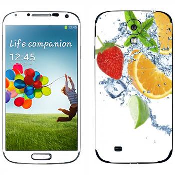 Виниловая наклейка «Фруктовая свежесть» на телефон Samsung Galaxy S4
