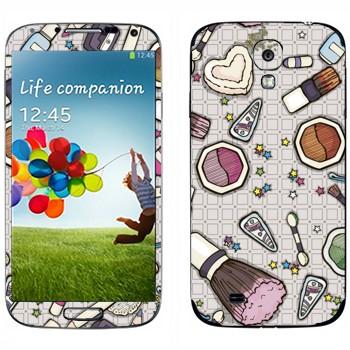 Виниловая наклейка «Женская косметичка» на телефон Samsung Galaxy S4