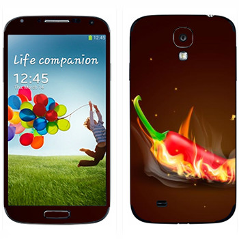Виниловая наклейка «Жгучий перец Чили» на телефон Samsung Galaxy S4