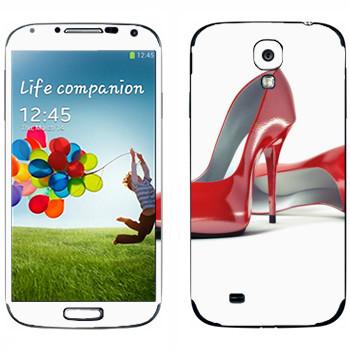 Виниловая наклейка «Красные туфли» на телефон Samsung Galaxy S4
