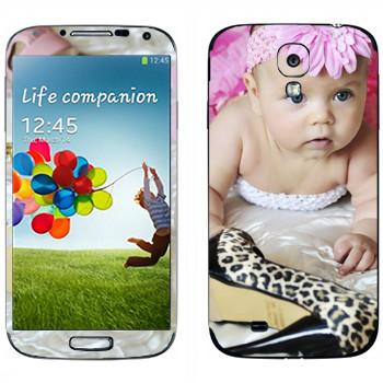 Виниловая наклейка «Маленькая модница» на телефон Samsung Galaxy S4