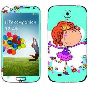 Виниловая наклейка «Маленькая принцесса» на телефон Samsung Galaxy S4