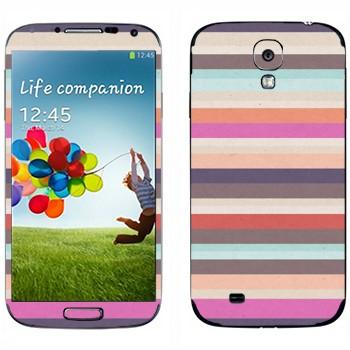 Виниловая наклейка «Милые разноцветные полоски» на телефон Samsung Galaxy S4
